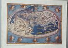 """Vintage DAV Art Print Map - 1482 Map of the World by C. Ptolemy 13-1/2""""x10-3/8"""""""