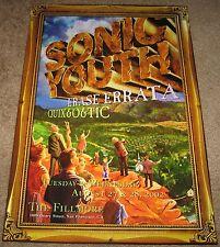 Mint Sonic Youth Poster 2002 Fillmore San Francisco 1st Printing w/ Coa F533-Po