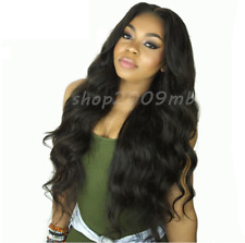 Body Wave Lace Front Brazilian Wigs Pre Plucked+Baby Hair Bleached Knot Hairline