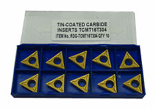RDGTOOLS TCMT 16 CARBIDE TIPS / INSERTS / INDEXABLE LATHE TURNING TOOLS
