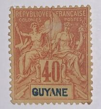 Travelstamps: 1892 French Guiana Stamps Scott #45 Mint, Ng Hinged , 40 Ctms
