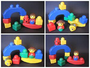 Lego Duplo PRIMO Baby Set: Figur Puppe Baustein Steine Wippe Brücke Rassel