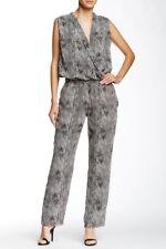 NWT Ladies XS Kiley Jumpsuit Grey Reptile W118 Walter Baker Surplice Sexy