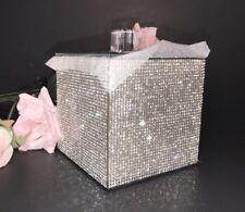 BELLA LUX RARE FULL Rhinestone Luxury Cotton Ball Q-Tip Box Jar Bathroom