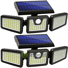 2 Pack Solar Lights Motion Sensor, Security LED Waterproof Adjustable Head Lamp