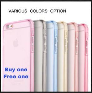 Apple iPhone 6/6 PLUS 6s/6s Plus Soft TPU Thin Slim Gel Case Crystal Clear Cover