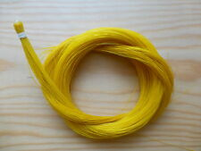 1 HANK OF REAL HORSE HAIR, YELLOW, FOR VIOLIN BOW OR OTHER USE , UK SELLER!!!