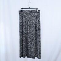 Soft Surroundings Gray Marled Maxi Skirt S