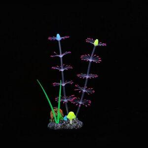 Silicone Glowing Artificial Fish Tank Aquarium Coral Plants  Aquarium Decor