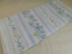 Rachel Ashwell Shabby Chic Cotton Fabric British Rose Blue Floral Stripe BTY