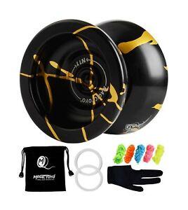 MAGICYOYO Professional Unresponsive Yoyo N11 Alloy Aluminum YoYo Ball (Black ...