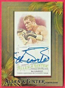 2016 Topps Allen & Ginter CANELO ALVAREZ Mini Framed Autograph Sp