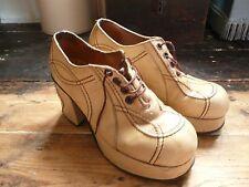 Rare Vtg Original 70s Platform Shoes.Glam Rock,T.Rex,Bowie,Disco,Film Piece.S 7