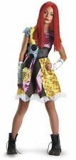 Nightmare Before Christmas Sally Costume Teen Girl Large (10-12) Dress Wig New