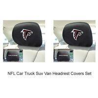 New 2pc NFL Atlanta Falcons Gear Car Truck Suv Van Headrest Covers Set