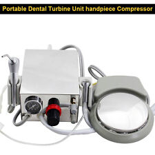 Dental Portable Turbine Unit Metal Shell Water Bottle Work With Compressor 2HOLE