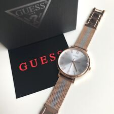 Guess Watch * W1155L4 Lenox Rose Gold Center Stripe Mesh Steel for Women
