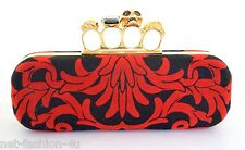 Alexander MCQUEEN ARABESQUE velluto Knuckle teschio clutch bag BNWT