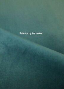 MILLARD Plush Plain FIRE RETARDANT Velvet Upholstery / Curtain Fabric