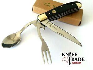 Elk Ridge ER-439W Hobo Folding Pocket Knife Spoon Fork Bottle Opener Camp Tool