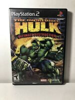 The Incredible Hulk Ultimate Destruction Sony PlayStation 2 PS2 Complete CIB
