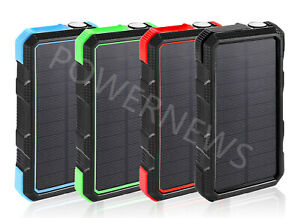 3000000mAh Solar Quick Charge QC 3.0 External Batteries Pack Portable Charger