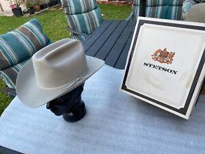 "Vintage 60s Resistol ""SHERIFF"" (K.Wolens) SilverBelly 3X Beaver 7-1/8"