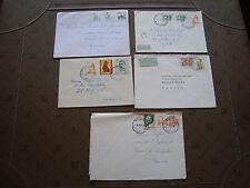 YOUGOSLAVIE - 5 enveloppes (cy87)