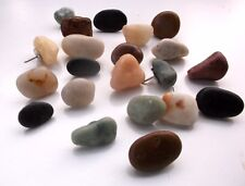 25 Rock Stone Beach Thumbtacks Thumb Tacks or Push Pins