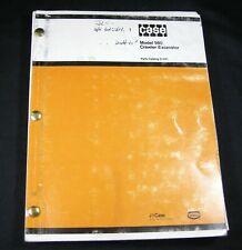 CASE Model 980 Crawler Excavator Tractor Parts Manual Book Catalog List OEM