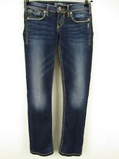 Silver Jeans Size 25 Berkley Dark Wash Straight Leg Jeans actual 27 x 28