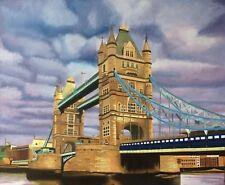 "London Tower Bridge original oil painting 22""x18"" British cityscape art picture"