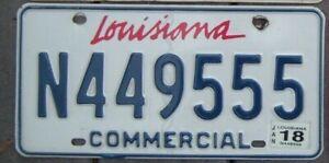 LOUISIANA License Plate - Man Cave - Bar -  Garage  N 449555  Triple 5 s