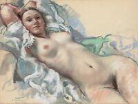 Zinaida Serebriakova : Reclining Nude : Archival Quality Art Print