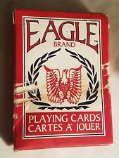 NEW SEALED DECK EAGLE BRAND PLAYING CARDS - NO. 1200 - CARTES A JOUER RED