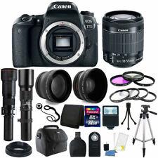 Canon EOS 77D 24.2MP DSLR Camera + 18-55mm 500mm 650-1300mm + Accessory Bundle