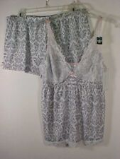 Marilyn Monroe 2 pc Lingerie Cami & Shorts Taupe + Cream Sleepwear Set NWT Sz L