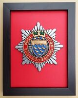 Large Scale Framed WEST SUSSEX FIRE & RESCUE SERVICE Badge Plaque