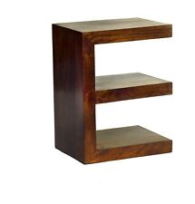 E Shaped Display Unit/End Table Ajak Mango Collection ML01
