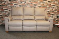 ALBANY ELECTRIC RECLINER 3 SEATER SOFA IN PEBBLE GREY LEATHER