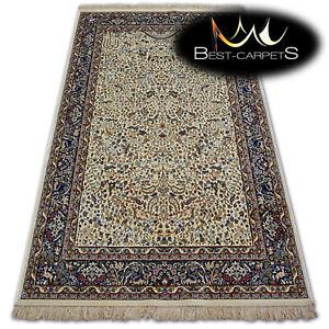 TRADITIONAL Carpets STYLISH RUG WINDSOR Jacquard fringe ivory High Quality