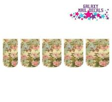 Waterslide Full Nail Decals - Set of 10 Vintage Pink & Taupe Roses