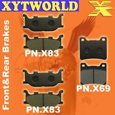 FRONT REAR Brake Pads for Yamaha XVS 1100 Drag Star 1999-2009
