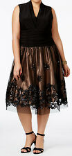 SL Fashions New Plus Size Embellished Fit & Flare Dress Size 16W #GN 761