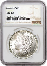 Random Year (1878 - 1904) $1 Morgan Silver Dollar NGC MS63