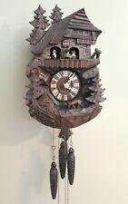 Gueissaz-Jaccard Cuckoo Clock - Germany -Musical - Chalet Deer Pine Trees- 1980s