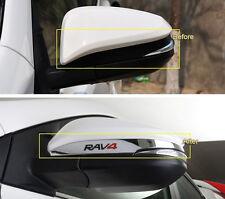 Chrome Rear view Side Mirror Cover Trim Strip Emblems For Toyota RAV4 2013-2016