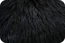 Mongolian Faux Fur BlackPhoto Prop Newborn Nest 18 x 20 Inches