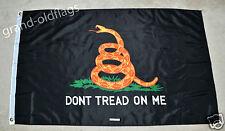 TEA PARTY FLAG GADSDEN DON'T TREAD ON ME 3'X5' BLACK