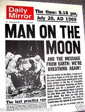 1969 Newspaper Apollo Man Walks on the Moon Landing Science Star Wars Trek Retro